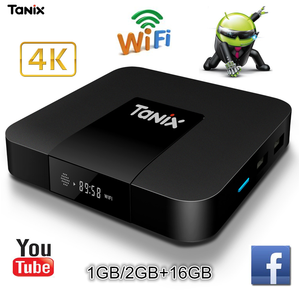 Tanix TX3 Mini TV Box Android 7.1 S905W Quad-core 2G di RAM 16 GB ROM TV Set Top Box WiFi Supporto 4 K Anche 3D Film in HD Media Player