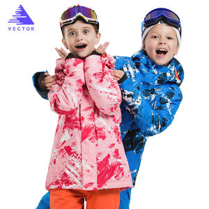 VECTOR Children Ski Jackets Warm Winter Jackets Boys Girls Waterproof Outdoor Sport Snow Skiing Snowboarding Clothing For Child