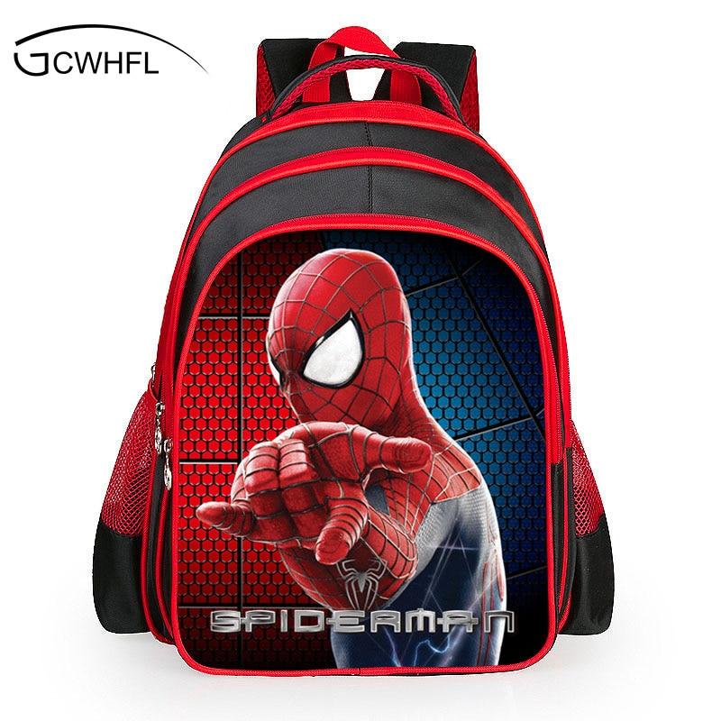 Spider man bag boys backpack boys cartoon children 6-11 year old kindergarten бейсболк мужские