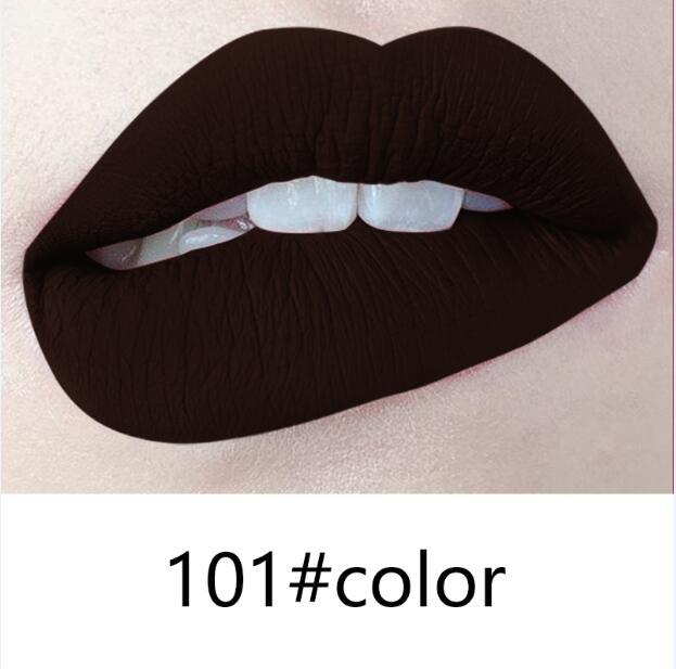91-102 colors of 102 colors matte liquid lipstick can be FREE private label if meet minimum-LOW MINIMUM-FAST DHL-FACTORY