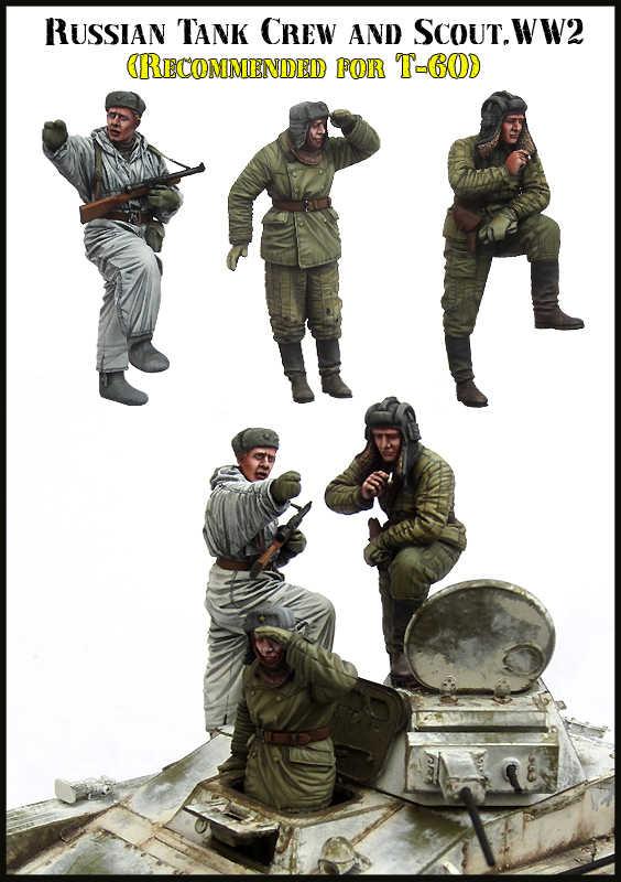 1/35 весы Неокрашенная Смола рисунок советский танк с круглым 3 коллекция фигурок фигурка