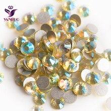 YANRUO Jonquil AB (213AB) Flatback Strass Non Hotfix Rhinestones Crystal Glass Cristal for Dance Dresses цены