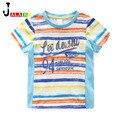 NOVAS Crianças Camisetas 100% Algodão criança Verão de Manga Curta das Crianças T-shirt dos Miúdos Do Bebê Banda Top E Camisetas carta de Impressão Roupa Dos Miúdos