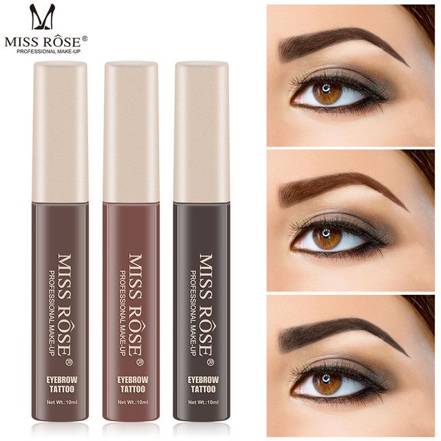 MISS ROSE Microblading Eyebrow Tattoo Pen with Eyebrow Brush Waterproof Eyebrow Gel Tattoo Paint Makeup Eyebrow Dye Cream Makeup