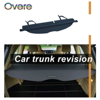 Overe 1Set Car Rear Trunk Cargo Cover For Ford i MAX Car styling Black Security Shield Shade Auto accessories