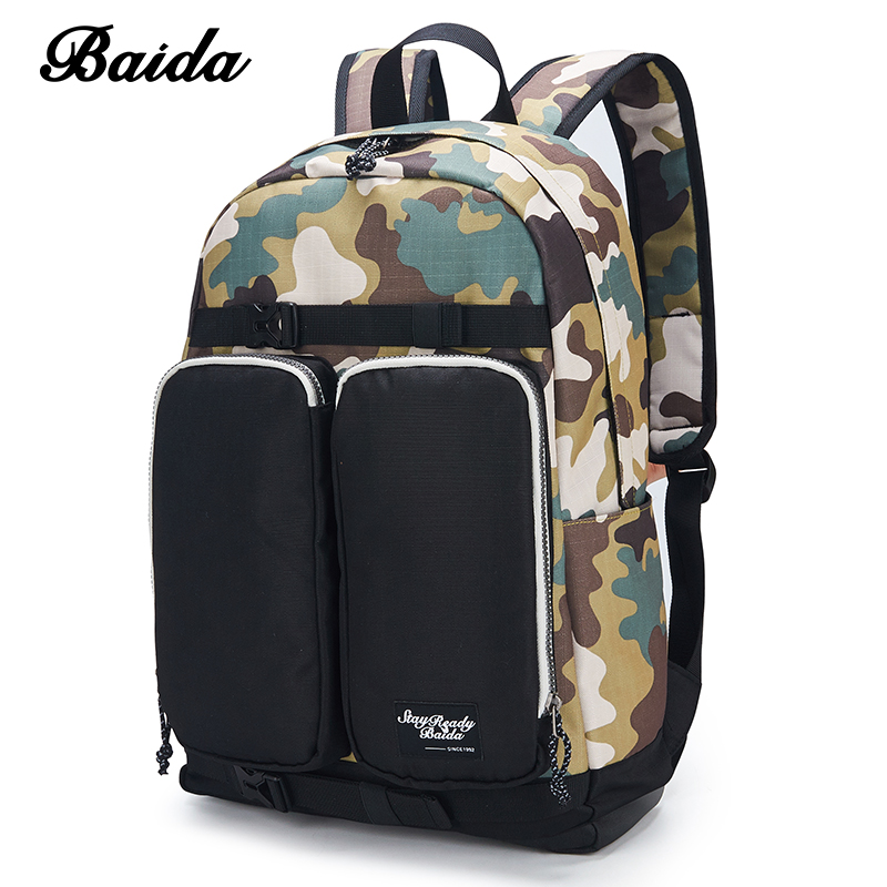 DAIDA Men Camouflage Backpacks Casual Daypacks Cool Laptop Bag Canvas Military Backpack School Bags For Teenager Boy Girls men backpack student school bag for teenager boys large capacity trip backpacks laptop backpack for 15 inches mochila masculina
