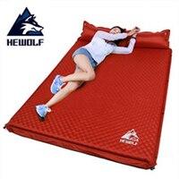 Hewolf открытый толщиной 5 см Автоматическая надувные подушки площадку открытый палатка коврики двойной надувной матрас 2 цвета