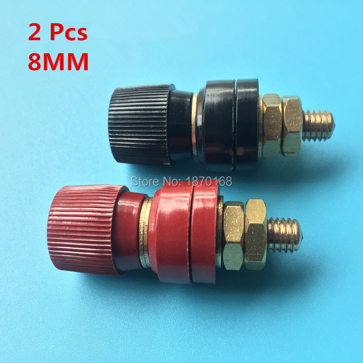 2 Pcs Plastic Shell M8 Male Threaded Diameter Binding Post Terminal  8MM Copper Post 8mm Regulator Welder