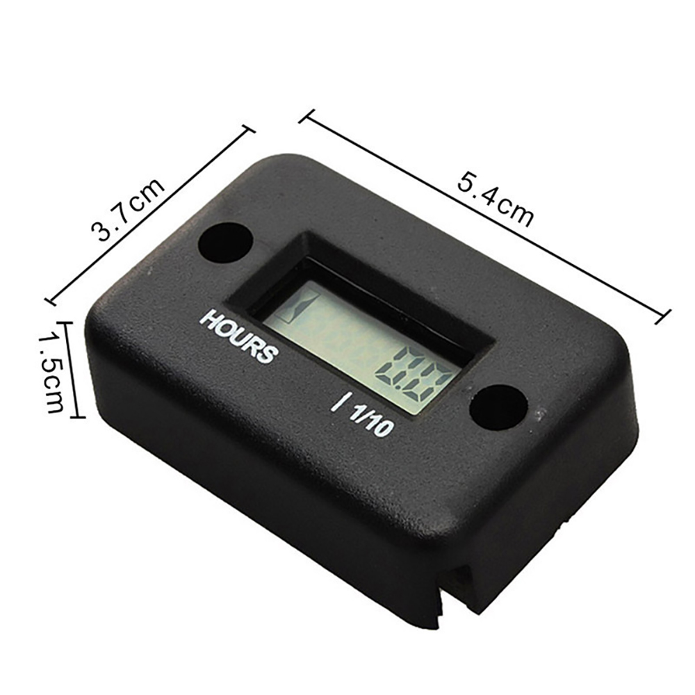 Image 3 - Hour Meter Motorcycle Gauge LCD Display Hour Meter for 4 Stroke Gas Engine Offroad Panel Hour ATV Motorcycle Generator Bike-in Instruments from Automobiles & Motorcycles