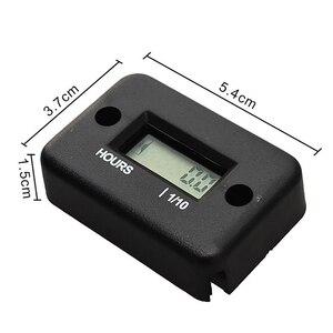 Image 3 - Portable Hour Meter Tachometer Hour Meter Counter Waterproof Engine Gauge For 4 Stroke Motorcycle ATV Snowmobile LCD Display