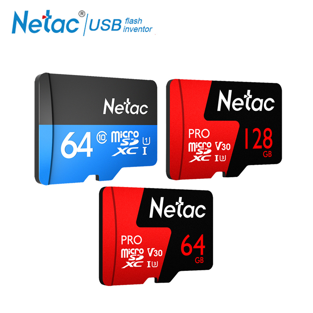 Netac Class 10 32GB 64GB Micro SD Card Read Speed Up To 100MB/s Video Card 16GB 128GB TF Flash Memory Card For Cell Phone Camera