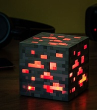 Minecraft Light Up Popular Game Redstone Ore Square Minecraft Night light LED Minecraft Figure Toys Light Up Diamond blue stone