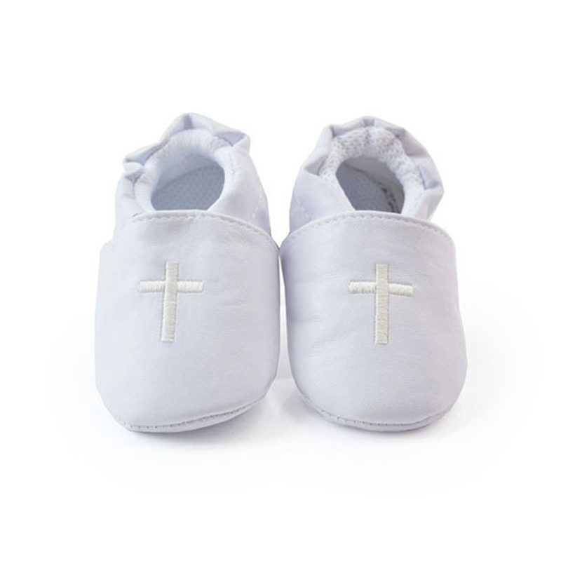 Baby Boy Girl Shoes Cross Baptism Christening Shoes Church Soft Sole Leather Shoes