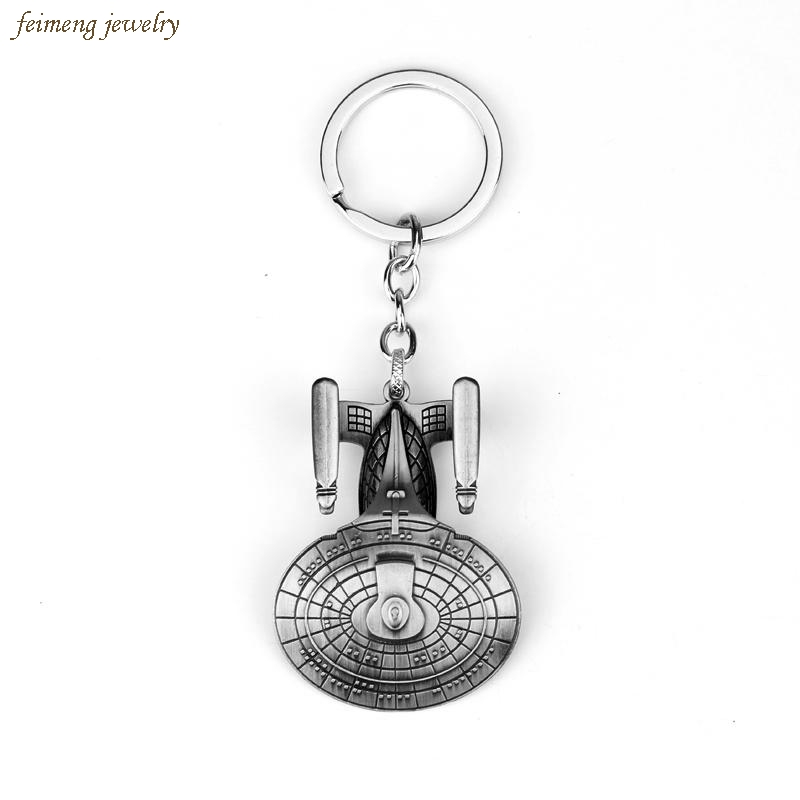 Star Trek Spacecraft U.S.S. Enterprise Air Plane Charm Keychain Key Ring Pendant Film Collection free shipping star trek magazine star ship eaglemoss uss enterprise nx 01 spaceship model 4