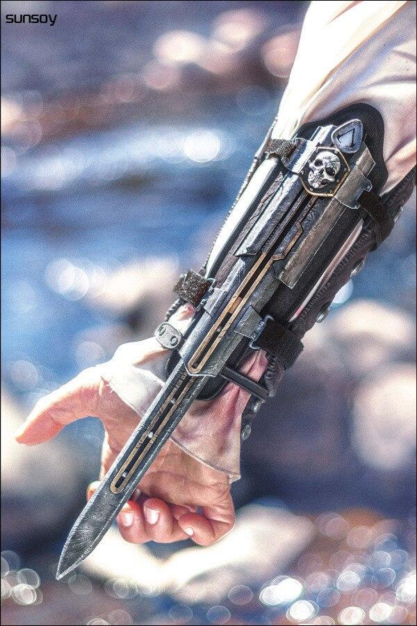ФОТО Cosplay NECA Assassins Creed 4 Assassins Creed Hidden Blade Brinquedos Edward Kenway Juguetes PVC Action Figure Model Kids Toys