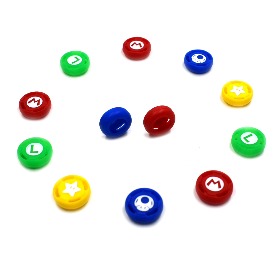 4 pcs High-quality Controller protective Silicone Caps Analog Case Cover Skin for Nintend Switch Pro Joysticks 4