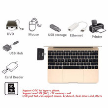 4 In 1 USB Tipe-C Card Reader OTG Tf Micro Sd Kartu Adaptor Pengisian untuk MacBook Ponsel Tablet ND998(China)