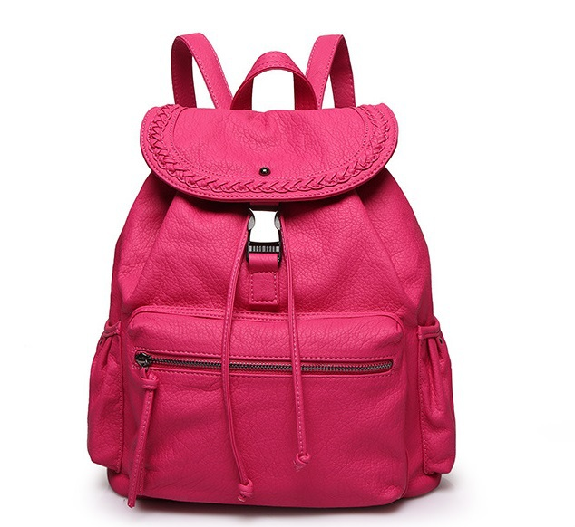 Women's Casual Backpacks with Buckle Leather School Bags Bookbag ...