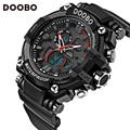 Doobo luxury brand men sports relojes del deporte led digital relojes de pulsera 50 m resistente al agua relogio masculino para hombre reloj de cuarzo