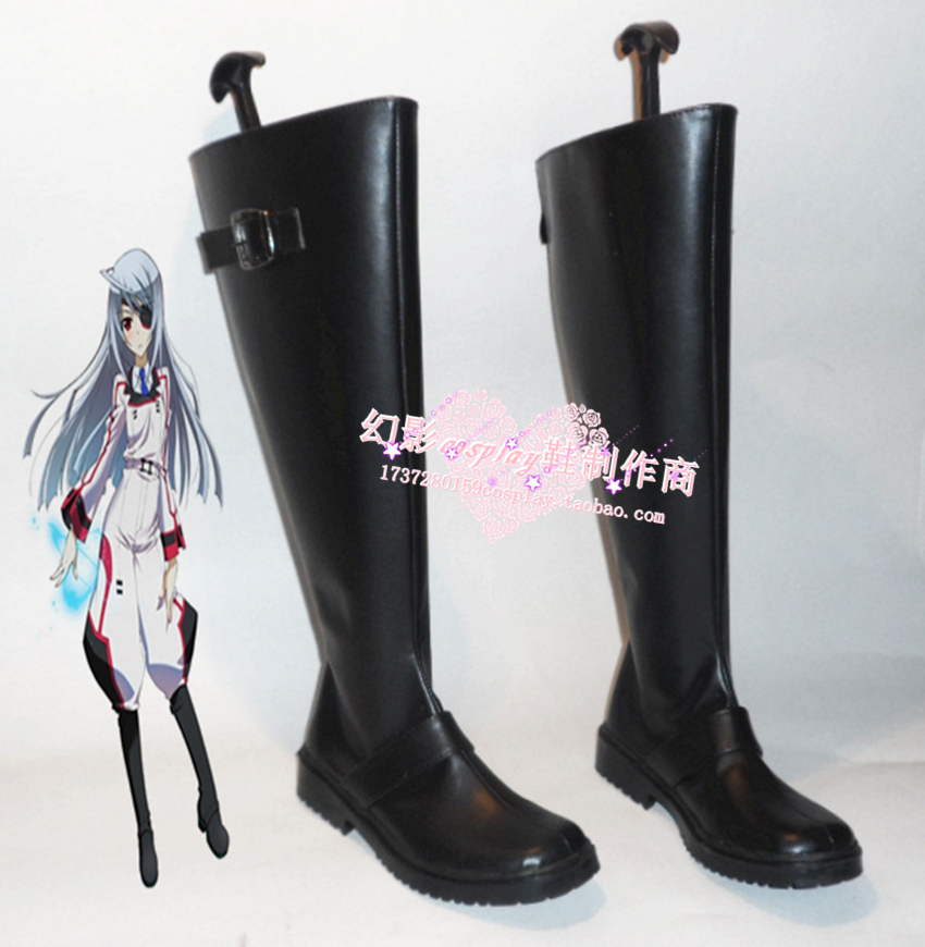 Infinite Stratos Laura Bodewig Halloween Long Cosplay Shoes Boots H016