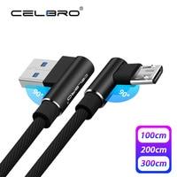 1/2/3 M Metro Micro Cavo USB 90 Gradi Micro USB Cavo di Ricarica per Samsung Xiaomi Telefono Cellulare Veloce microUSB Dati Cabel Cavo 2A