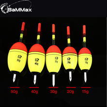 2pcs/lot Fishing Float 15g 20g 30g 40g 50g EVA fishing light stick belly Accessories Tackle Night Floats Pesca
