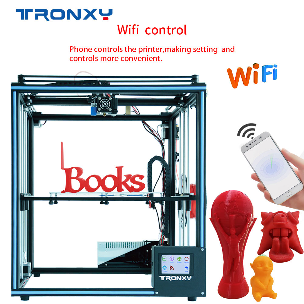 2019 Newest Tronxy X5ST-500-2E Larger 3D Printer 2 In 1 Out