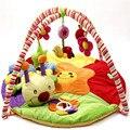 Bebê dos desenhos animados esteira do jogo música ginásio infantil Desenvolvimento Lagarta brinquedos de pelúcia crianças educação aprendizagem rastejando tapetes de Esportes de algodão