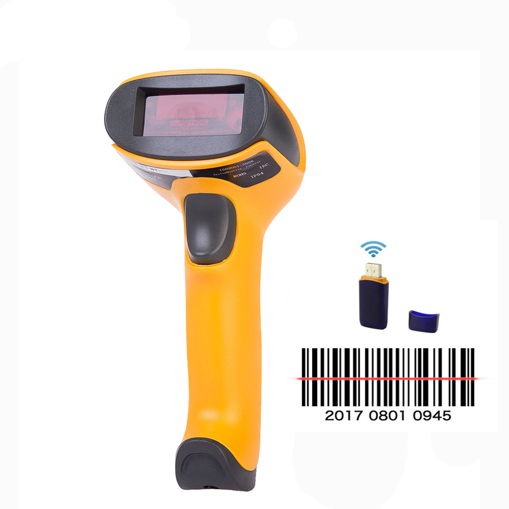 Wireless Laser Barcode Scanner Portable Long Range Cordless Bar Code Reader Scaner for POS and Inventory HW-F2 inventory accounting