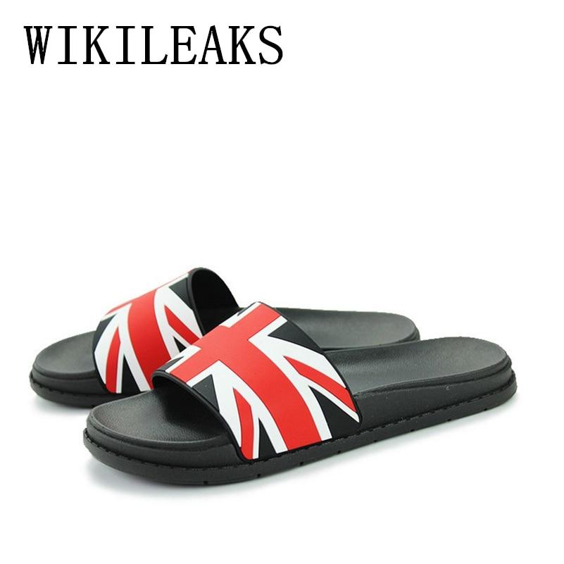 new summer beach slippers women shoes zapatos hombre pantufas de pelucia brand Union Jack sandals woman designer Slides ciabatte