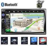 7 pouces écran tactile voiture lecteur multimédia 2 Din Autoradio Bluetooth GPS Navigation Auto Radio stéréo voiture DVD USB SD caméra arrière
