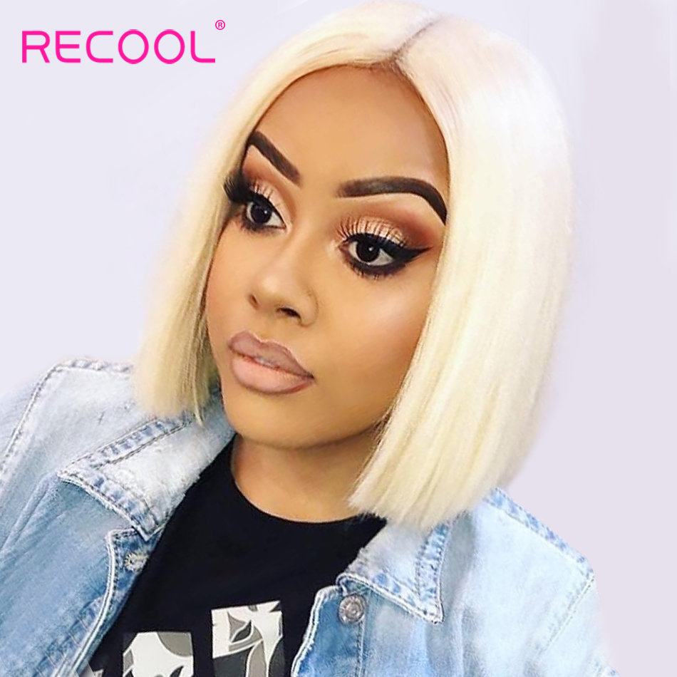 Recool Blonde Lace Front Wig 13x6 613 Short Bob Wig Full Lace Front Human Hair Wigs