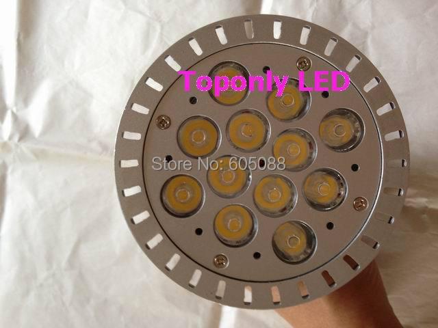 Высокое качество E27 12 Вт par38 светодиодный прожектор Epistar лампы светодиодные лампы алюминиевый корпус белый цвет 1200lm CE ROHS 50 шт./лот оптовая