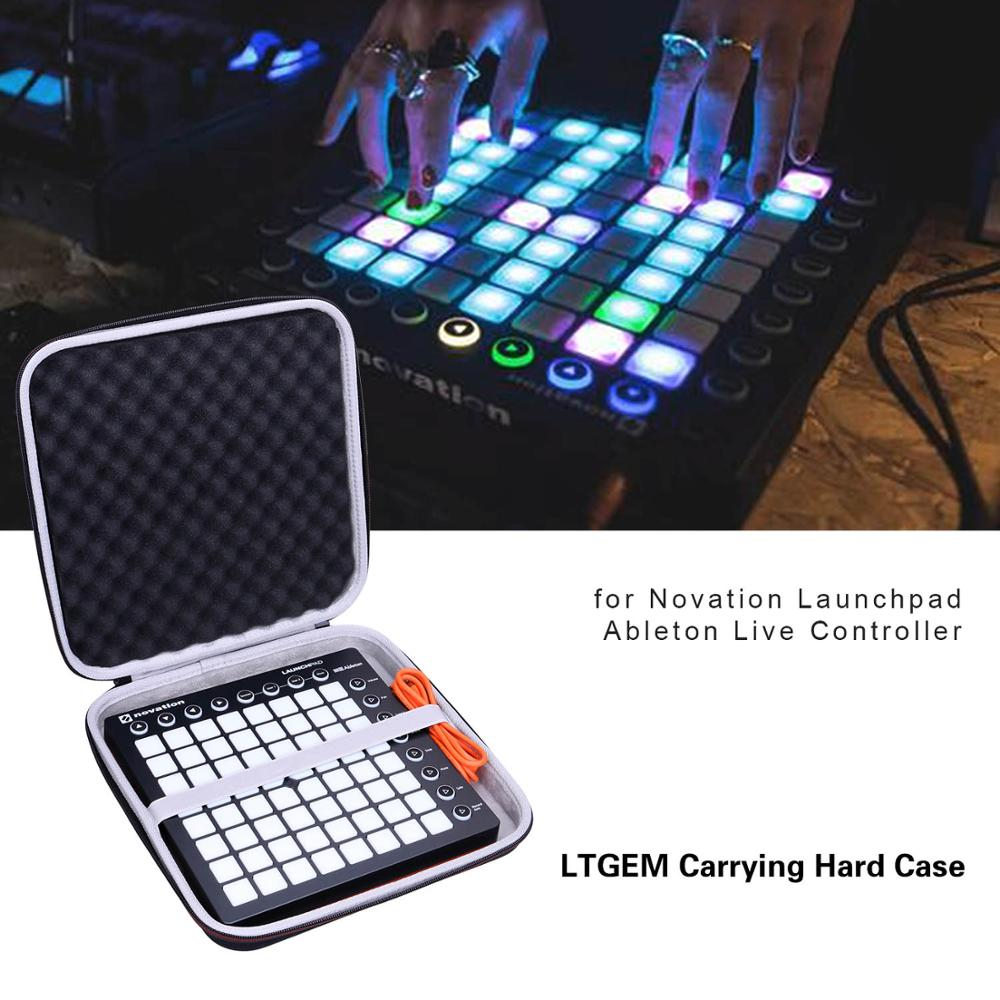 LTGEM EVA Black Waterproof Shockproof Carrying Hard Case For Novation Launchpad Ableton Controller