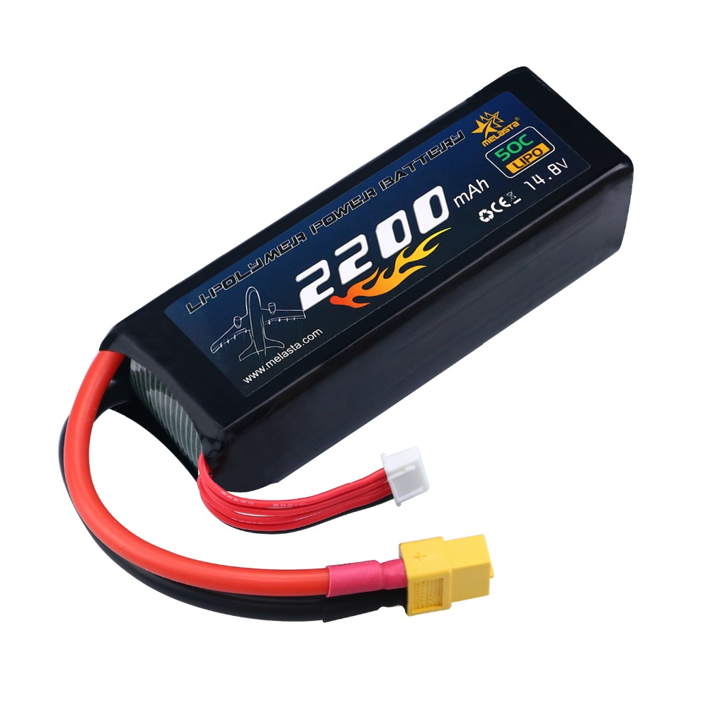 MELASTA <font><b>14.8V</b></font> <font><b>2200mAh</b></font> 50C 4S RC LiPo <font><b>Battery</b></font> Pack Racing car with XT60 Plug for RC Airplane Helicopter Quadcopter Vehicle Boat image
