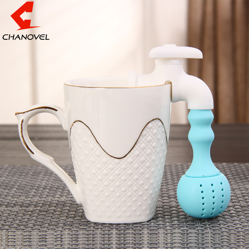 Coffee & Tea Tools Silicone Faucet Tea Infuser Loose Tea Leaf Strainer Herbal Spice Filter Diffuser