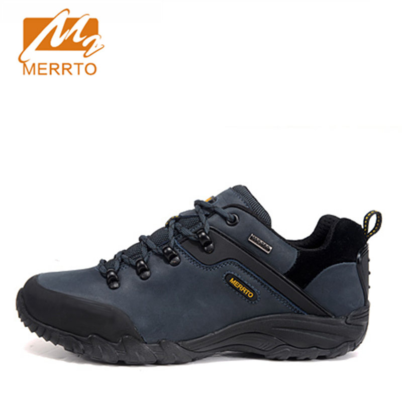 ФОТО 2017 Merrto Lovers Walking Shoes Waterproof Outdoor Shoes First Layer For Lovers Free Shipping 18296/18018