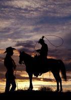 TOP ART Painting American West Art Cowboys Setting Sun Print Oil Painting On Canvas Custom Handpainted