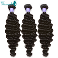 Brazilian Virgin Hair Deep Wave Brazilian Curly Hair 7A High Quality Human Hair Weave Bundles Rosa Queen Hair Products