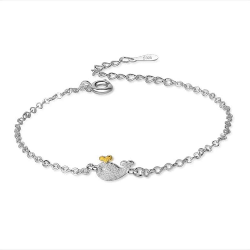 LUKENI Trendy Brushed Silver Animal Bracelets For Women Jewelry Charm 925 Sterling Bracelet Lady Birthday Accessories Hot