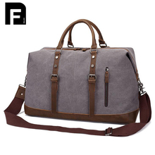 2017 Men's Vintage Travel Bag Large Capacity Canvas Tote Portable Luggage Daily Handbag