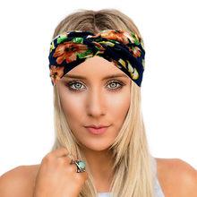 bf13be2f890b Patchwork Turban Headbands for Women Twist Stretch Hairbands Sport Headband  Yoga Headwrap Head Band Bandana Girls