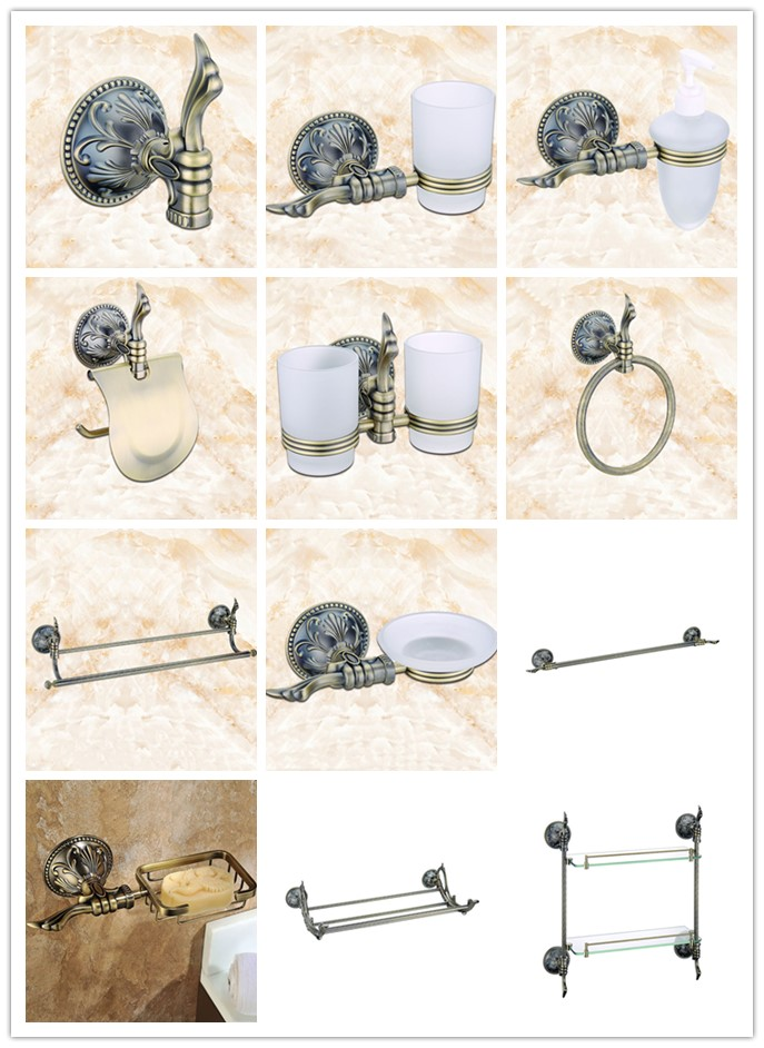 Antique bronze 12-Piece Bathroom Hardware Accessory Set Towel bar rack shelf Robe hook paper holder ring Toilet brush Soap dish towel ring black towel holder towel bar bathroom accessories set paper holder luxury toilet brush holder robe hook soap dish