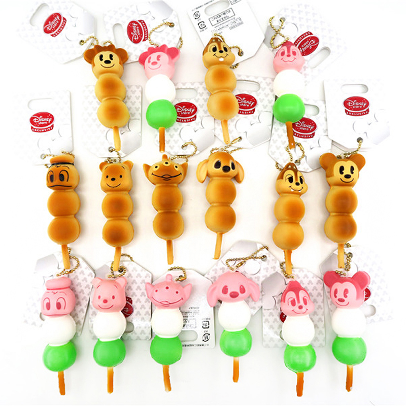Kuutti Squishy Pink Plain Color Kawaii Cartoon Anime Japan Ball String Squishy Food Phone Charm Straps slow rising Soft Squishy in Mobile Phone Straps from Cellphones Telecommunications