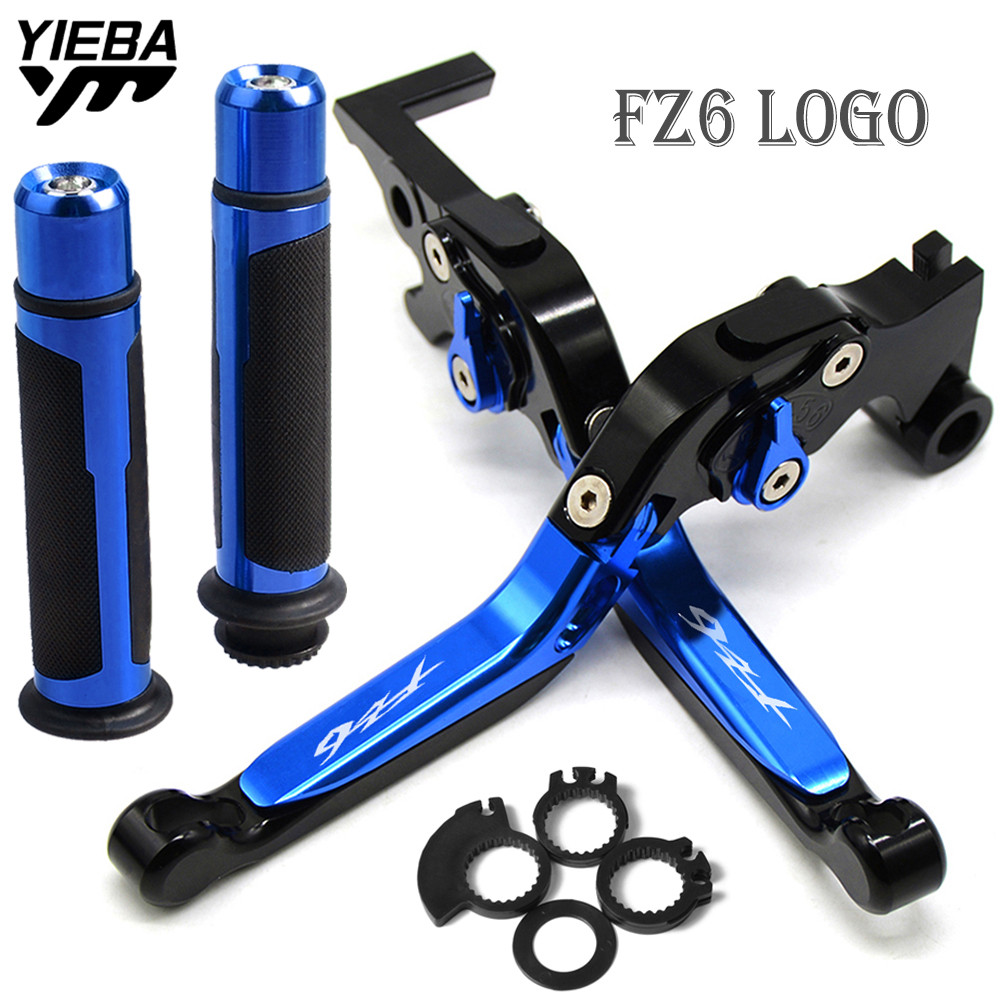 FZ6  Motorcycle Accessories Folding Brake Clutch Levers handle grips FOR YAMAHA FZ6 FAZER 2004-2010 2009 2008 FZ6R 2009-2015FZ6  Motorcycle Accessories Folding Brake Clutch Levers handle grips FOR YAMAHA FZ6 FAZER 2004-2010 2009 2008 FZ6R 2009-2015