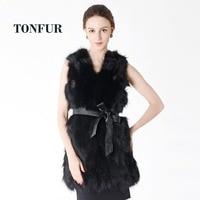 New Real Raccoon Fur Vest Long Custom Multi Color Factory Wholesale Nature Fox Fur Gilet Genuine Fox Fur Vest NT506