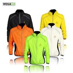 WOSAWE chaquetas de ciclismo a prueba de viento hombres mujeres montando a prueba de agua ciclismo ropa bicicleta de manga larga Jerseys chaleco sin mangas abrigo de viento