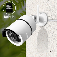 SDETER Wireless CCTV Camera Wifi Outdoor Waterproof Bullet Security IP Camera Built In 16G SD Card