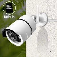 SDETER Wireless CCTV Camera Wifi Outdoor Waterproof Bullet IP Security Camera Built-in 16G SD Card IR Night Vision Motion Alarm