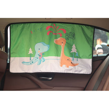 Universal Car Sun Shade Magnetic Curtain Cute Cartoon Automobiles Adsorption Window Sunshade For Baby Child Sunproof Protector image